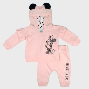 Baby Girl Disney Minnie Mouse Hoodie & Joggers Set